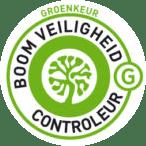 Logo van het groenkeur Boom Veiligheid Controleur